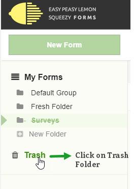 Select Trash Folder