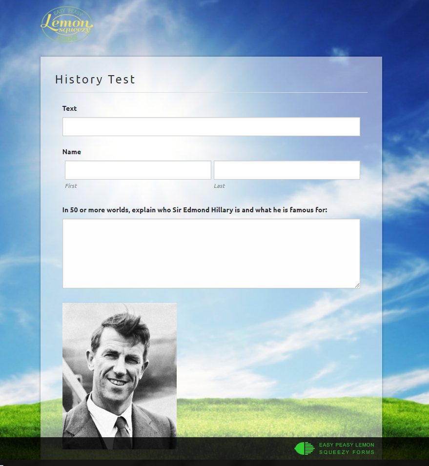 History test form
