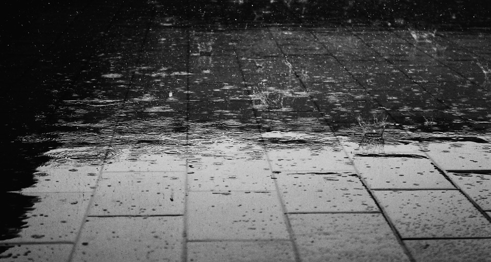 Rain falling on the ground