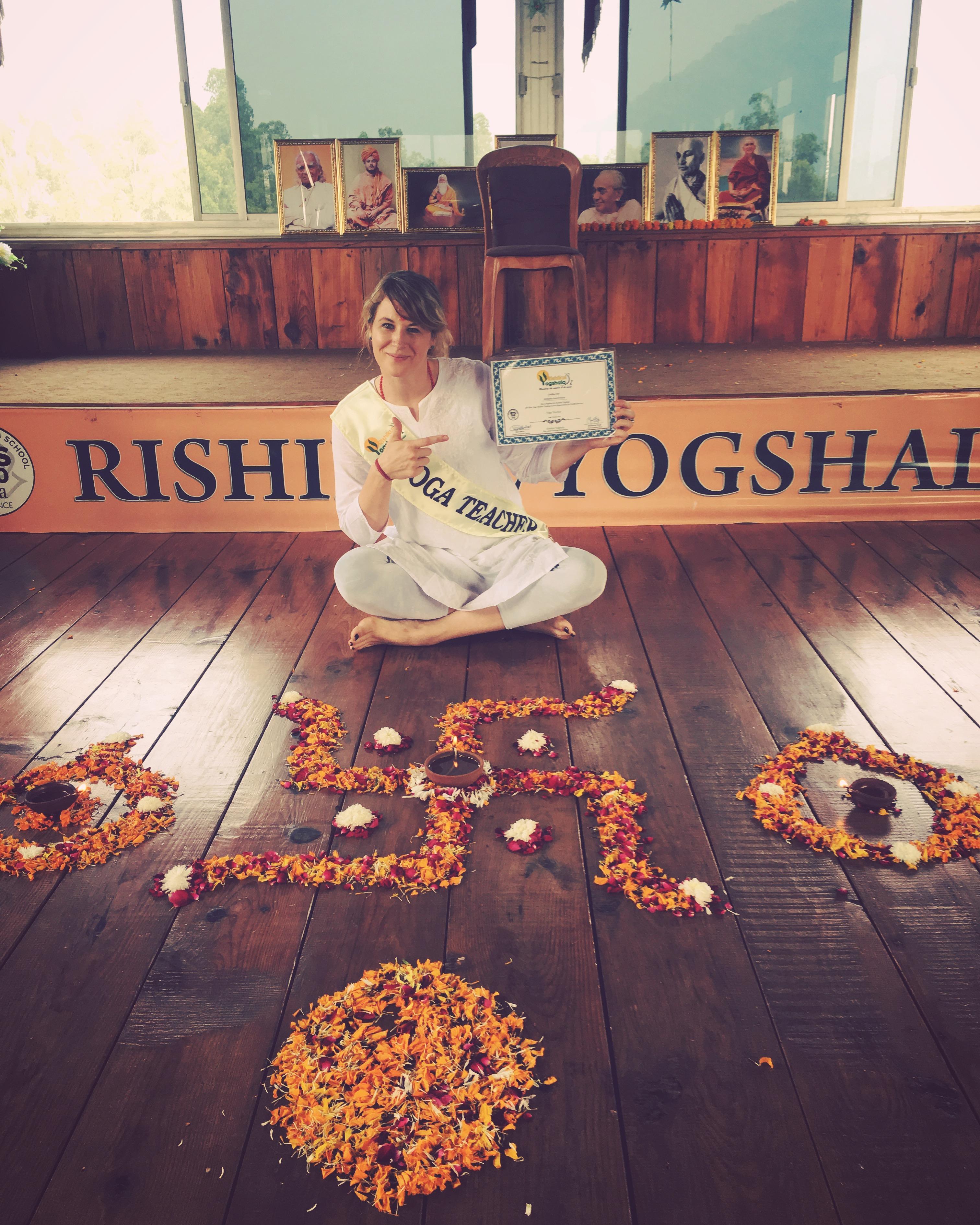 Graduation from Yoga Teahcer Traning - Rishikesh, India